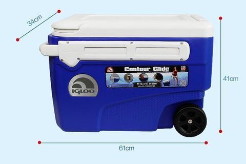 Изотермический контейнер (термобокс) Igloo Contour Glide 38 (36 л.), синий