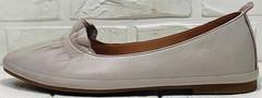 Летние балетки туфли на маленьком каблуке Wollen G036-1-1545-297 Vision.