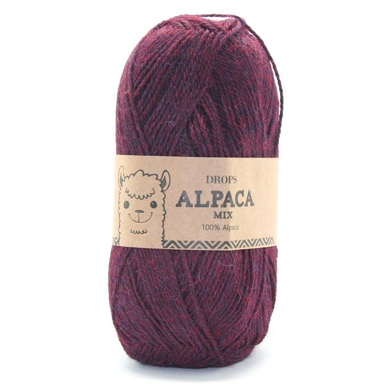Пряжа Drops Alpaca 3969 фиолетово-красный меланж