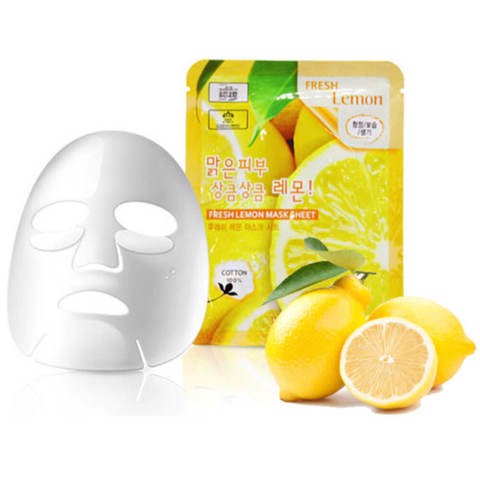 3W CLINIC Fresh Lemon Mask Sheet  маска для лица с экстрактом лимона