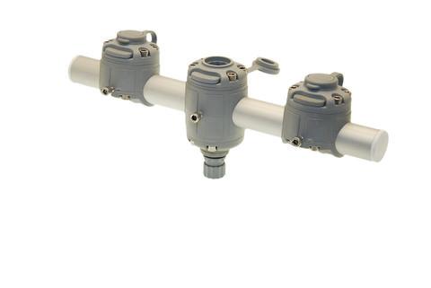 Тарга с тремя замками Gm350-3, 350 мм, серая