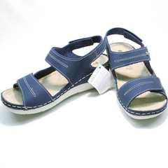 Модные женские босоножки спортивного стиля Inblu CB-1U Blue.