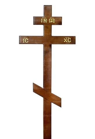 Крест сосновый лакированный