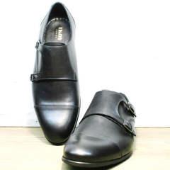 Монки туфли классические мужские Ikoc 2205-1 BLC.