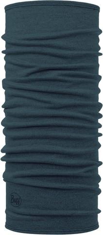 Шерстяной шарф-труба Buff Wool midweight Dusty Blue Melange фото 1