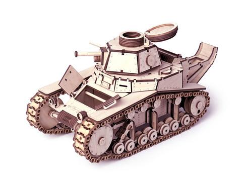 ТАНК МС-1 от Lemmo - Деревянный конструктор, сборная модель, 3D пазл, подходит для моделирования