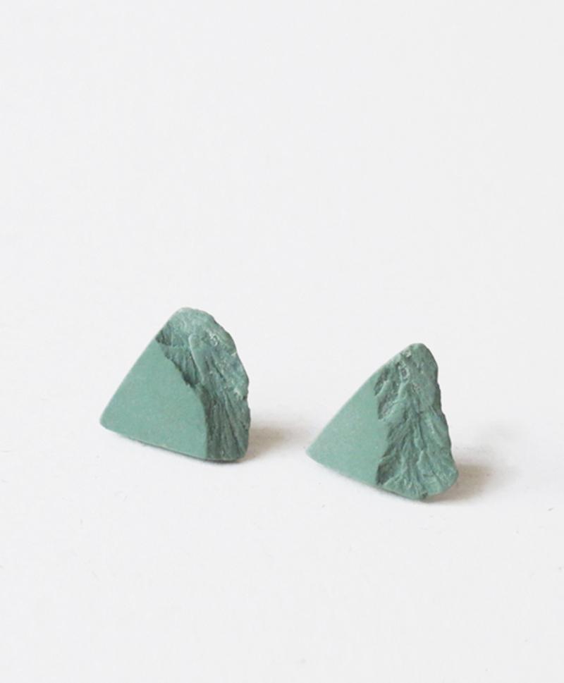 Серьги Triangle Green