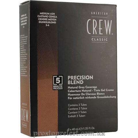 American Crew Precision Blend Medium Ash - Система маскування сивини (рівень 5-6)
