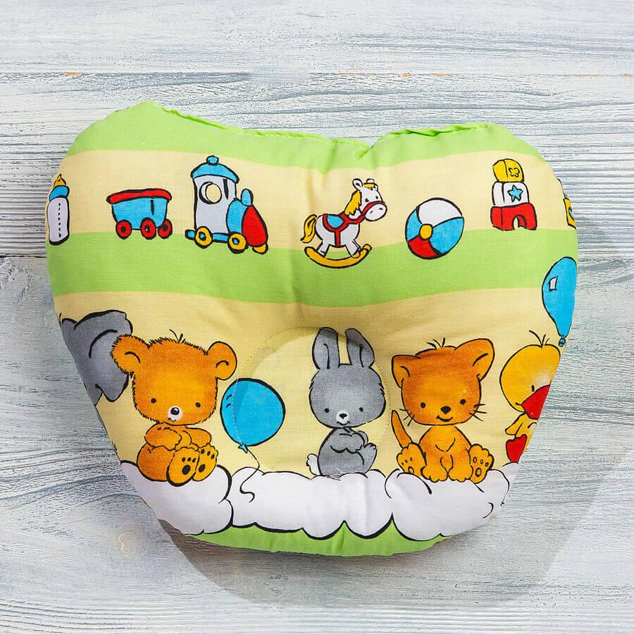 Анатомическая подушка для новорожденных
