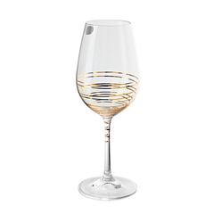 Набор бокалов для вина «Виола» золотая спираль, 350 мл, фото 3