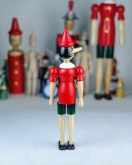 Пиноккио со сменным носом, 31 см, Италия