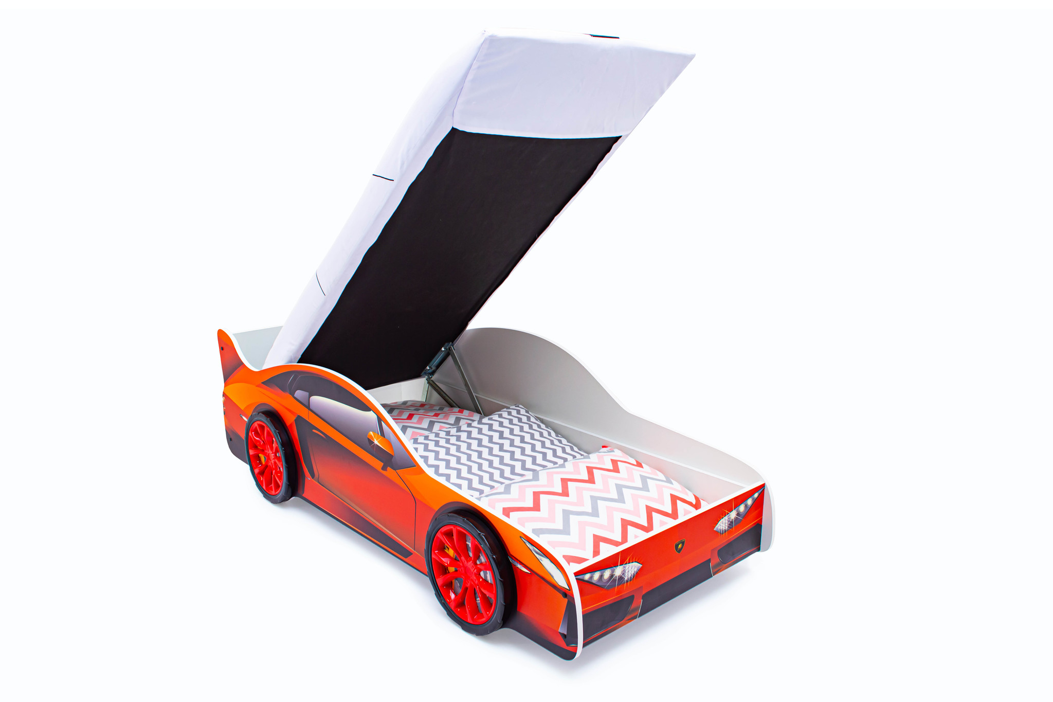 Кровать-машина «Ламборджини» с подъемным механизмом