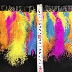 Купить оптом перья Марабу на ленте яркие разноцветные Disco в интернет-магазине