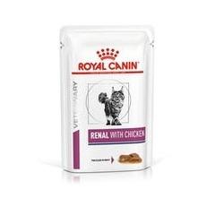 Пауч для кошек, Royal Canin Renal Feline With Chicken, при хронической почечной недостаточности, c цыпленком