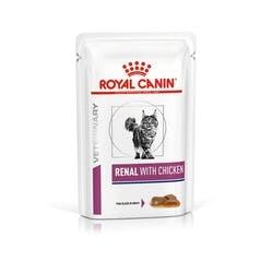 Влажные корма Пауч для кошек, Royal Canin Renal Feline With Chicken, при хронической почечной недостаточности, c цыпленком vhn-vital-support-renal-cat-wet-chicken-cig-pouch-85gr-packshot.jpg