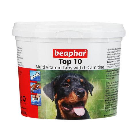 купить бефар Beaphar Top 10 Dog кормовая добавка с L-карнитином для собак со вкусом креветок