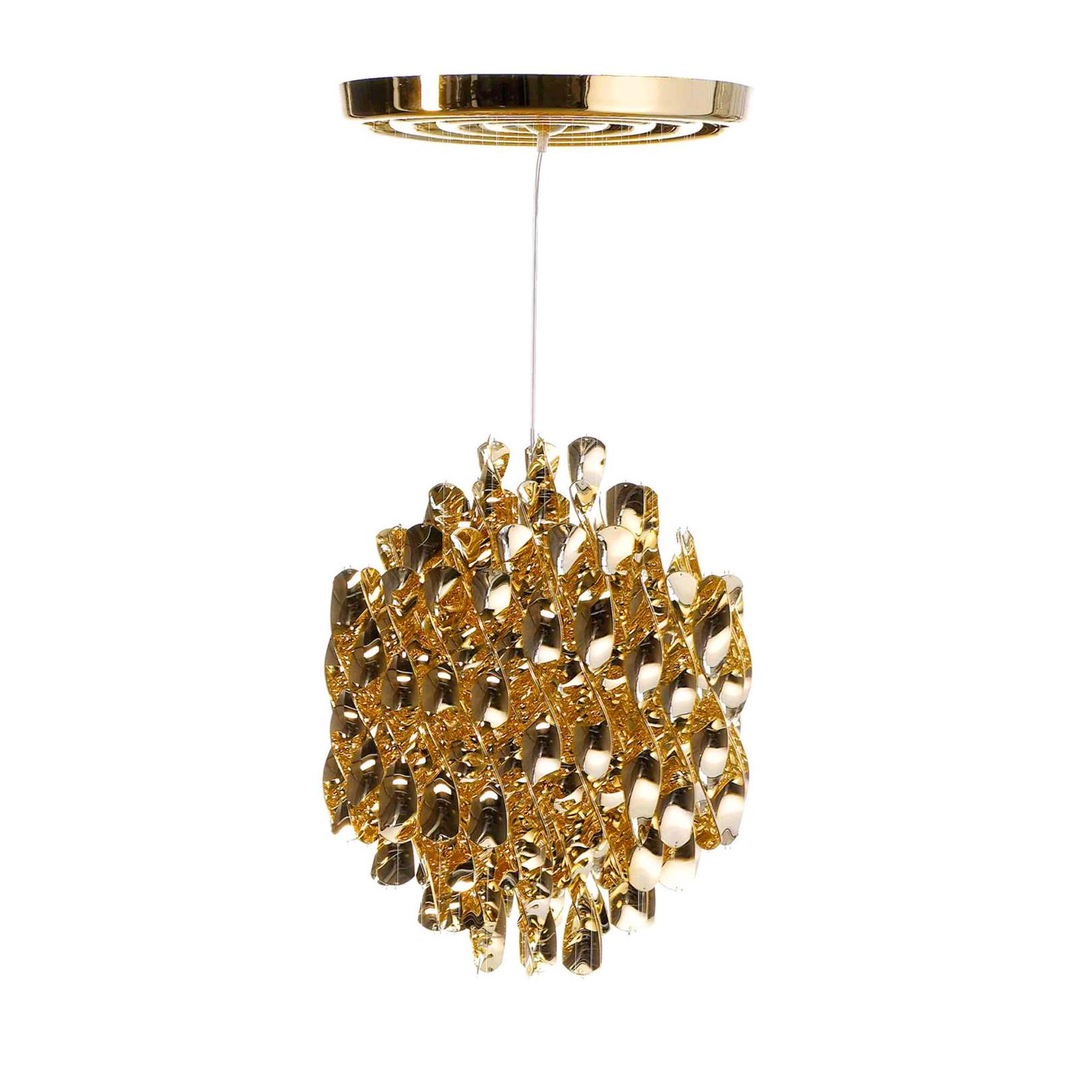 Подвесной светильник копия Spiral SP01 by Verpan Panton (золотой)