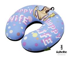 Подушка-подголовник Gekoko «Happy Wife», голубая 2