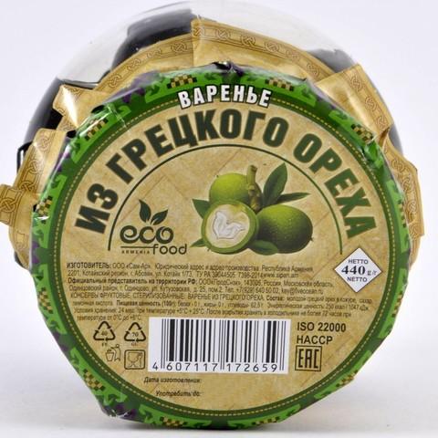 Варенье из грецкого ореха Ecofood, 440г