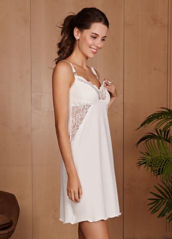 Ночная сорочка Izabel для беременных и кормящих; цвет: молоко 4439