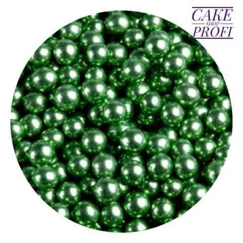 Посыпка Шарики зеленые металлизированные 5мм, 25г.
