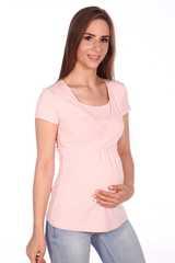 Мамаландия. Футболка для беременных и кормящих на запах, розовый меланж вид 2