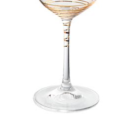 Набор бокалов для вина «Виола» золотая спираль, 350 мл, фото 4
