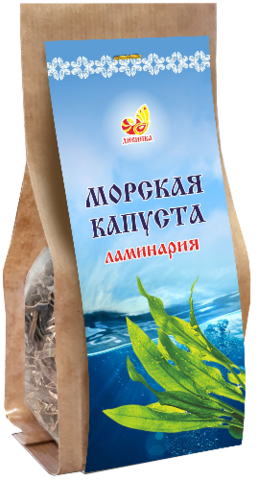 Ламинария резаная (пакет), 90 гр. (Дивинка)