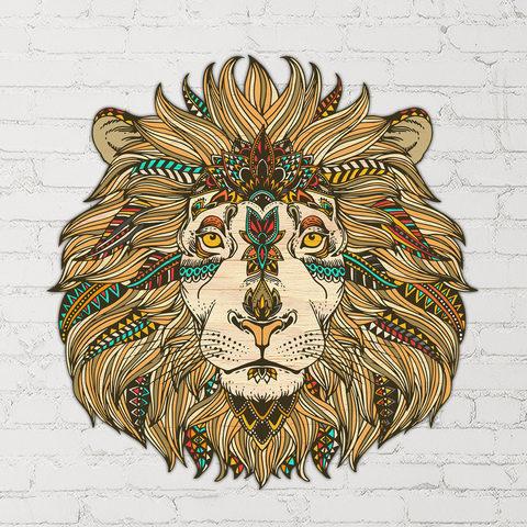 Настенная мандала Этнический лев
