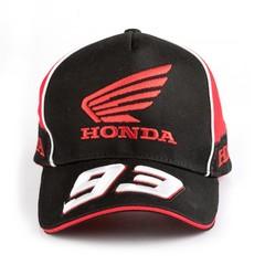 Кепка с вышитой эмблемой Хонда 93 Маркес (Бейсболка Honda Marques 93) черная