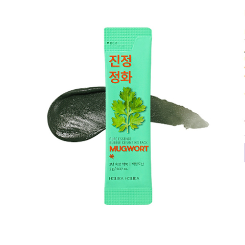 HOLIKA HOLIKA Pure Essence Mugwort Bubble Cleansing Pack Пузырьковая маска для лица с полынью, 5 г