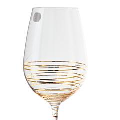Набор бокалов для вина «Виола» золотая спираль, 350 мл, фото 5