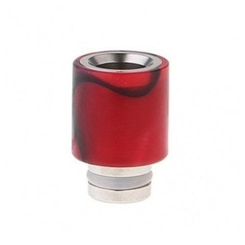 Drip-Tip Acrylic wrapped SS Hybrid красный