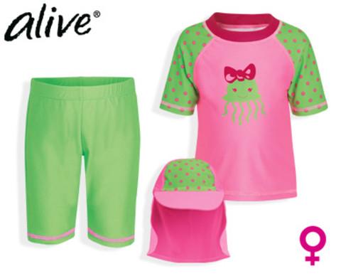 Комплект для девочки Alive футболка + шорты + панама