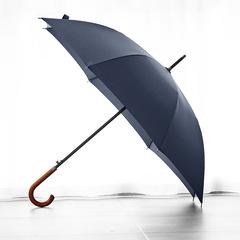 Элегантный зонт трость с деревянной ручкой - крюком, 8 спиц OLYCAT (синий)