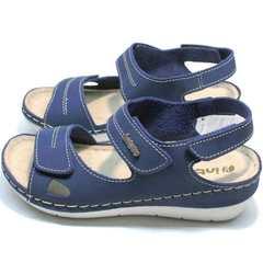 Спортивные сандалии женские кожаные Inblu CB-1U Blue.