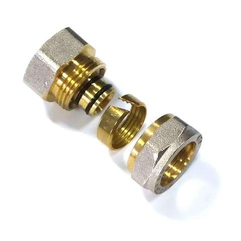 Муфта обжимная для металлопластиковых труб 16*1/2 внутренняя  резьба Valve