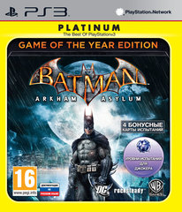 Batman Arkham Asylum - Game of the Year Edition (PS3, английская версия)