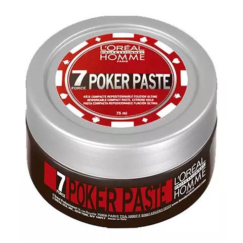 L'Oreal Professionnel Homme: Моделирующая паста экстремально сильной фиксации для мужчин Покер (Poker Paste), 75мл