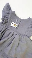 Платье-боди из муслина Серое