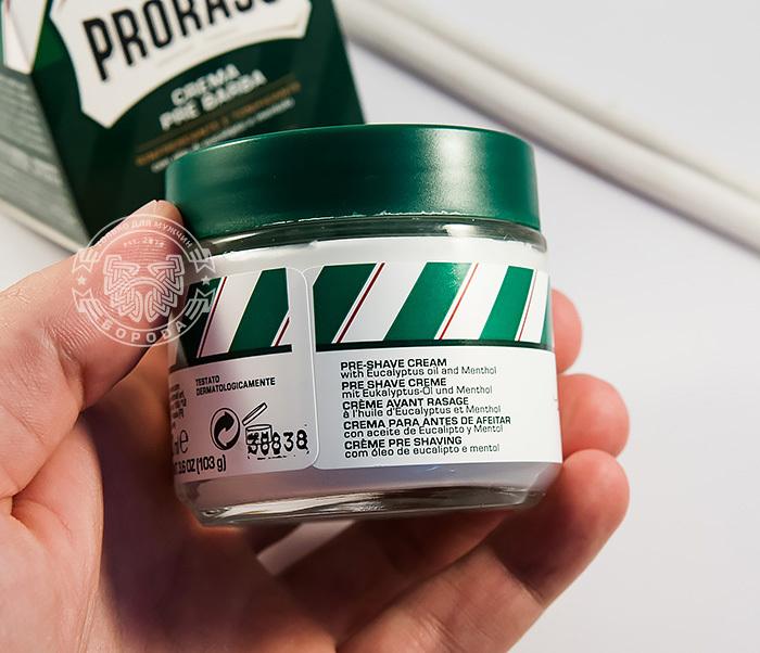 RAZ400101 Крем до бритья «Proraso» pre-shave с эвкалиптом и ментолом (100мл) фото 04