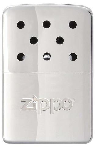Каталитическая грелка Zippo, сталь с покрытием High Polish Chrome, серебристая, 51x15x74 мм