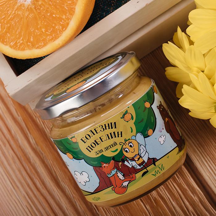 Купить крем-мед суфле в Перми БОЛЕЗНИПОБЕДИН С АПЕЛЬСИНОМ
