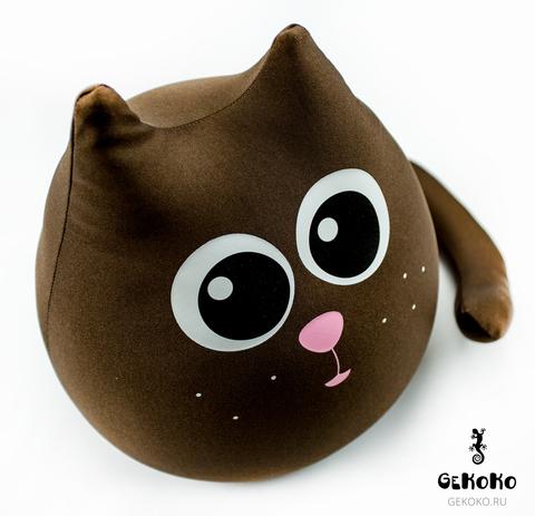 Подушка-игрушка антистресс Gekoko «Кот шоколадный большой» 3