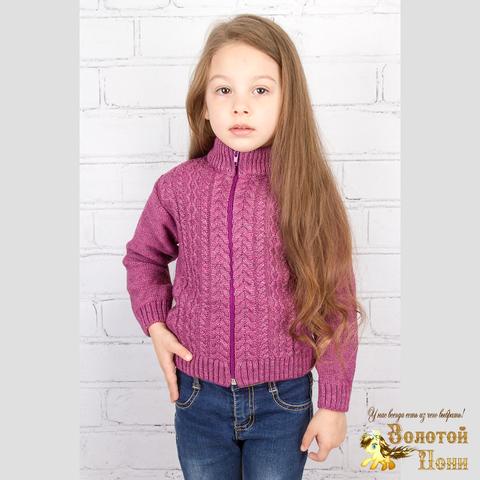 Джемпер вязаный девочке (86-104) 190826-g6116