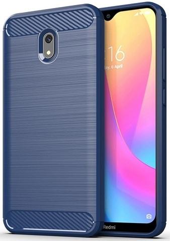 Чехол Xiaomi Redmi 8A цвет Blue (синий), серия Carbon, Caseport