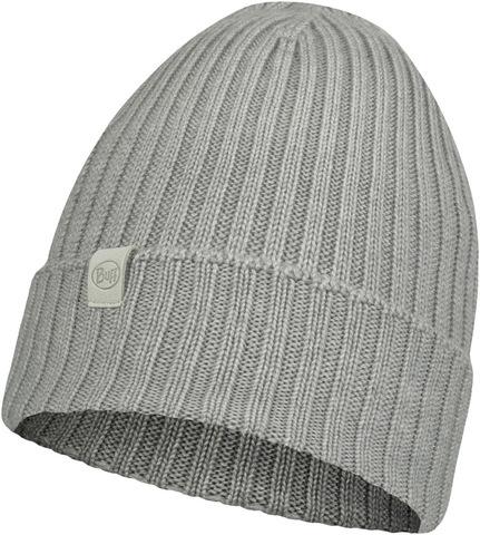 Вязаная шерстяная шапка Buff Hat Wool Knitted Norval Light Grey фото 1