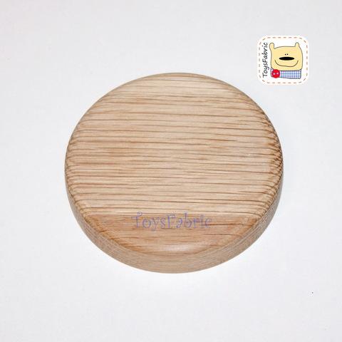 Подставка для кукол круглая без крепления (дуб)