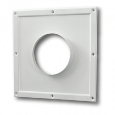 125ПТМ(300х300) Торцовая площадка стальная 295х295/ф125 без решетки, с полимерным покрытием эмалью