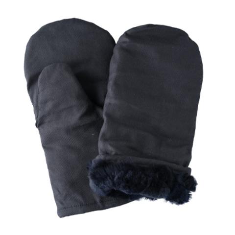 Утепленные рукавицы натуральный мех